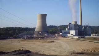 Big Sandy Cooling Tower demolition