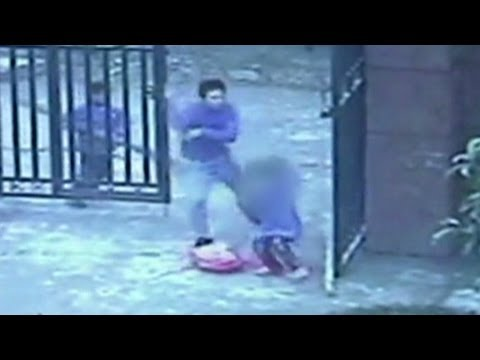 China releases footage of school knife attack