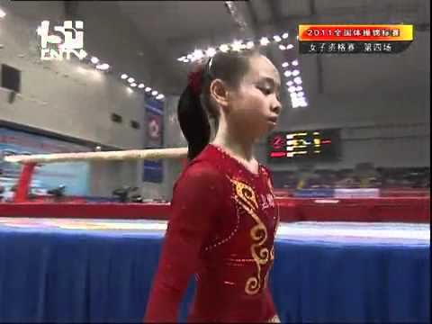 Tan Sixin balance beam qualification chinese national gymnastics 2011