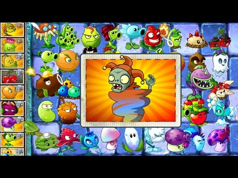 PVZ 2 Gameplay Every Plant Power-Up! vs Jester Zombies PVZ 2 in Unique Plants vs Zombies 2 Mod