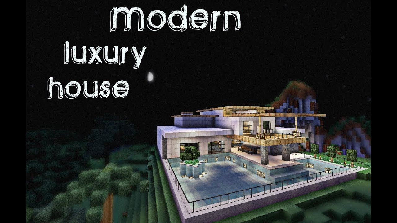 Minecraft modern luxury house youtube for Modern mansion homes