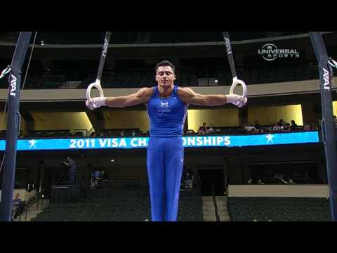 Brandon Wynn on Rings at Nationals - from Universal Sports