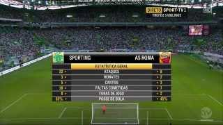(Full Match) Part  2  AS Roma vs Sporting Lisbon (1-8-2015)