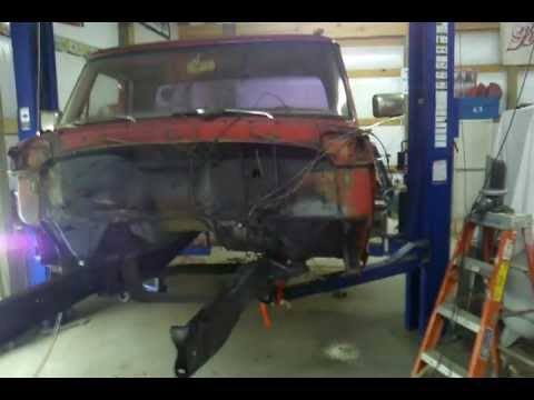1967 Ford F100 Crown Vic drivetrain swap part 1