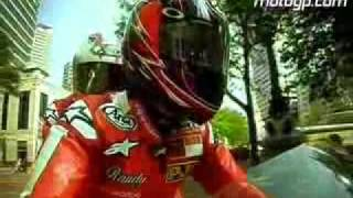 Randy Mamola trying to wheelie in Indianapolis