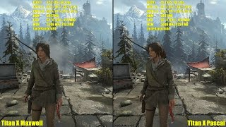 Titan X Pascal Vs Titan X Maxwell 4K Rise Of The Tomb Raider Frame Rate Comparison