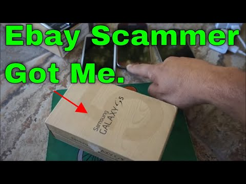 EBAY SCAM SAMSUNG GALAXY S5 S6. FAKE DEAL USED PHONE IN OEM BOX