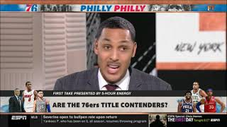 Ryan Hollins SATISFIED Are the 76ers title contenders? | FIRST TAKE 7/16/2019