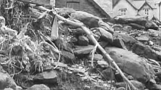 Lynmouth Floods Footage from the BBC