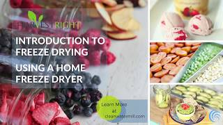 Harvest Right - Intro To Freeze Drying - Using A Home Freeze Dryer