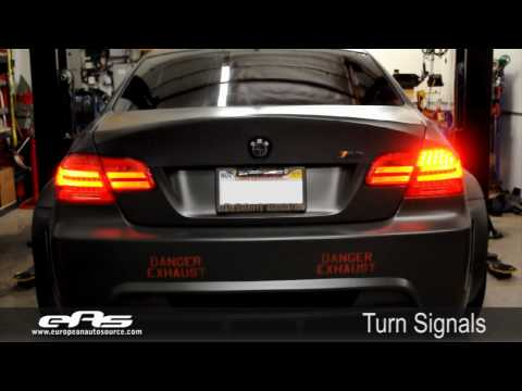 eas   e92 LCI Tail Light Coding Demo - VF Engineering e92 M3