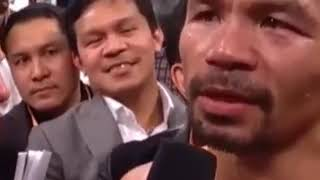 Manny Pacquiao vs Adrien Broner Post Fight Interview