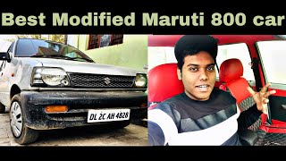 My MODIFIED MARUTI 800 || BEST MODIFIED MARUTI 800  INSTALLING SPORTS CAR INTERIOR|BASS MUSIC SYSTEM