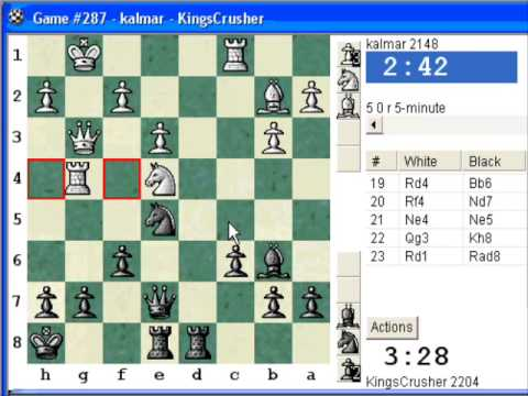 Chess World.net: Blitz #107 vs. kalmar (2148) - QGD semi-Slav: Chigorin defense (Chessworld.net)