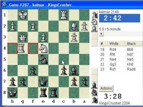 Chess World.net: Blitz #107 vs. kalmar (2148) - QGD semi-Slav: Chigorin defense (Chessworld.net)