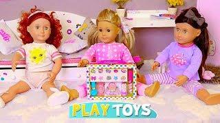 Baby Doll Slumber Party! 🎀 Play AG, OG Dolls Make up and Dress up Games!