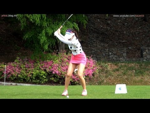 [1080P HD]  AHN Shin-Ae Iron with Practice Golf Swing 2013 (2)_KLPGA Tour