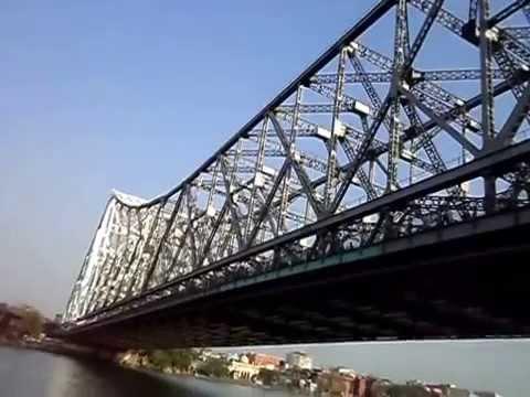 Howrah Bridge on Hoogly river - Kolkata - west bengal - India