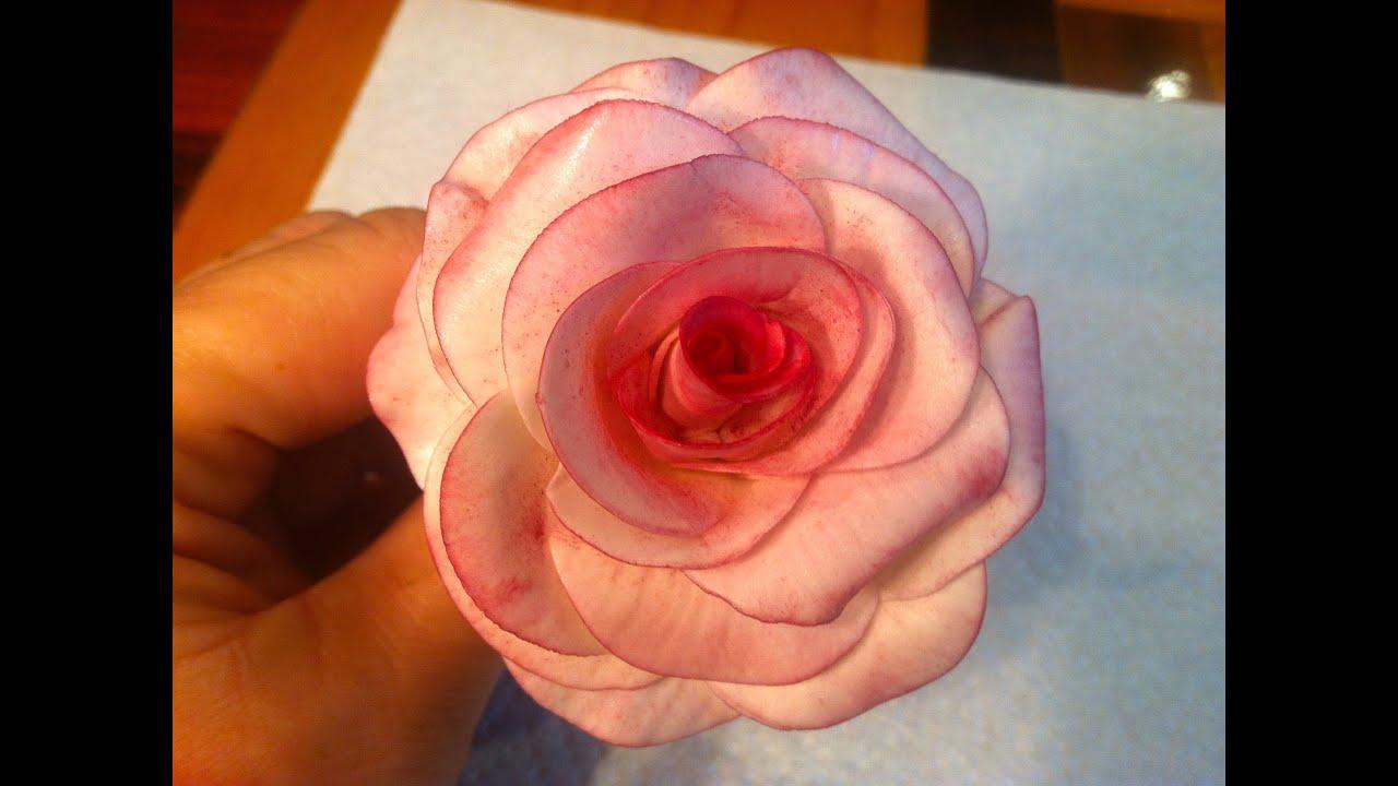 Como hacer una rosa con pasta de goma youtube - Como hacer flores ...