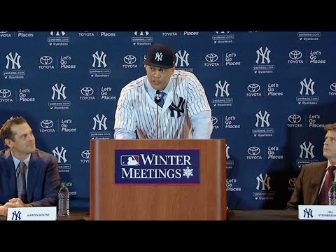 Stanton Meets The Media Following Trade To Yankees
