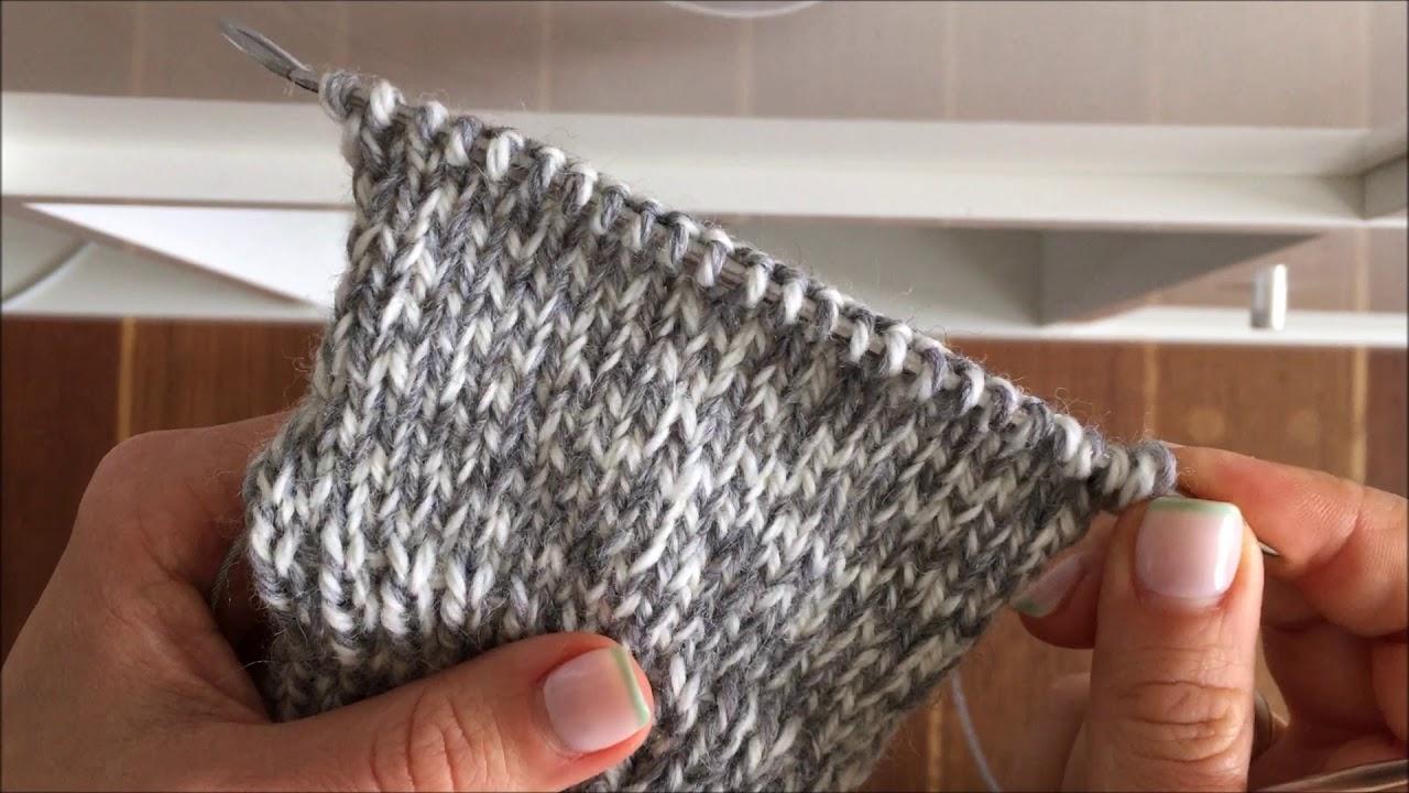 Вязание 2 носков на круговых спицах 91
