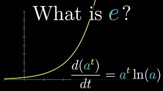What's so special about Euler's number e? | Essence of calculus, chapter 5