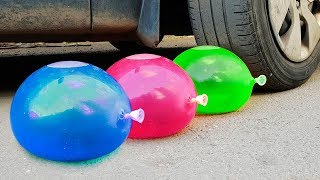 Crushing Crunchy & Soft Things by Car! - Experiment: Car Vs Balloons
