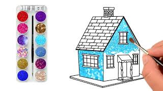 House Drawing for Kids House | Coloring Pages for Kids Best