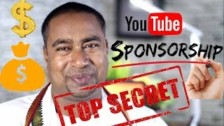 The Inside Story of Making money by Sponsorship on Youtube !   Dont Miss