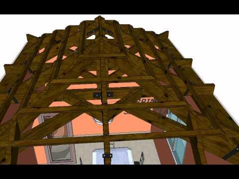 Planos de techos de cuatro aguas