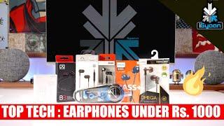 Top Tech - Top Tech - 10 Budget Earphones Under Rs. 1000 - iGyaan Shopping List