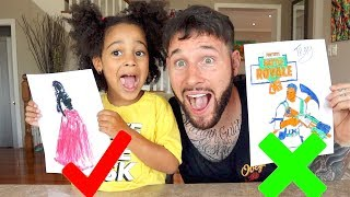 3 MARKER CHALLENGE with Fortnite and Barbie | FamousTubeKIDS
