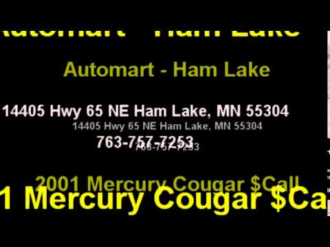 2001 Mercury Cougar $Call 763-757-7253 by Automart - Ham Lake