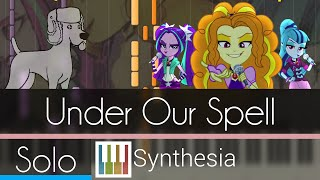 Under Our Spell - |SOLO PIANO TUTORIAL w/LYRICS| -- Synthesia HD