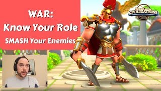 WAR: Know your role, SMASH your enemies!  | Rise of Civilizations