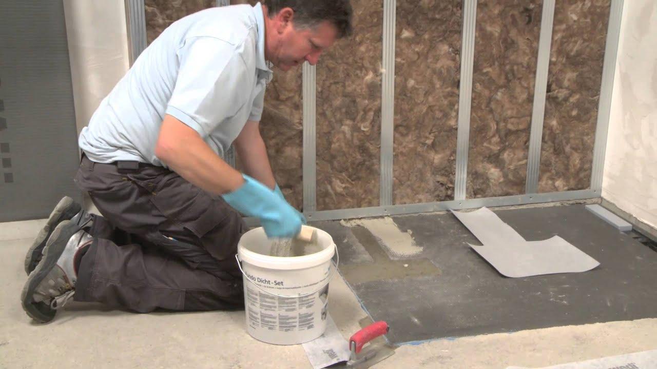 Wedi it training montaggio della doccia a filo for G m bagno di giuntini massimo