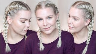 HOW TO FRENCH BRAID YOUR OWN HAIR FOR BEGINNERS – TALK THROUGH & REAL TIME | AMALIE GABS