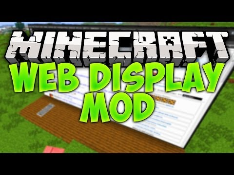 Minecraft | WEB DISPLAY (Websites inside minecraft) Mod Showcase [1.7.4]
