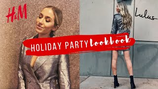 LAST MINUTE HOLIDAY PARTY LOOKBOOK | VLOGMAS DAY 9