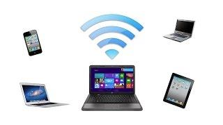 حول حاسوبك إلى روتر ويفي ( WiFi router ) لمشاركة الانترنيت مع أصدقائك بضغطة زر
