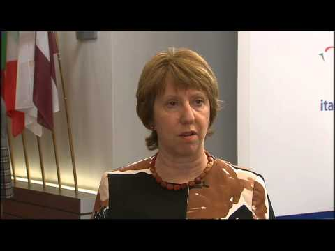Catherine Ashton following the Extraordinary Foreign Affairs Council on 15 August 2014