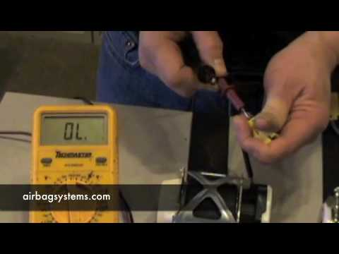 Airbag Systems How To Test A Seatbelt Pre Tensioner Youtube