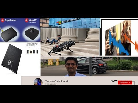 Tech News #5 MIT Cheetah 3 Robot Machine Learning AI Pixelplayer Jio fiber Seagate Barracuda SSDs