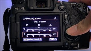 How to perform AF Microadjustment