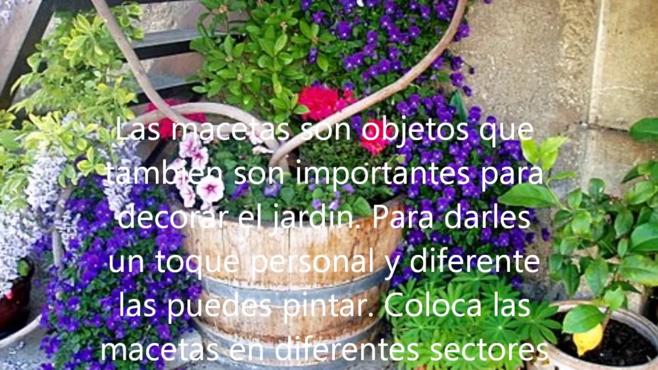 C mo decorar un jardin youtube for Como ornamentar un jardin