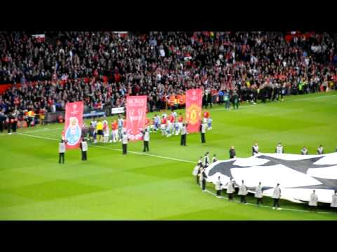 Player Entrance & Champions League Anthem  Old Trafford - Manchester United Vs Porto video