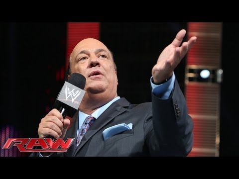 Paul Heyman stuns the WWE Universe when he reveals his mysterious new client: Raw, May 20, 2013