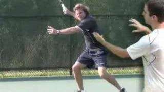 Tennis Lesson: Forehand Step 3 - Swing to Contact