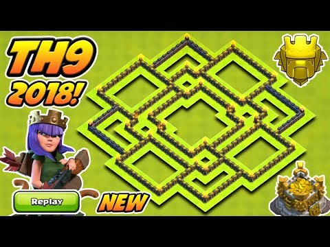 BEST TOWN HALL 9 (TH9) FARMING BASE 2018 With REPLAYS! | TH9 FARMING BASE 2018! | CLASH OF CLANS