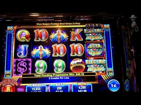 Ainsworth Gaming - Electric Nights Slot Bonus MAX BET *NEW GAME*